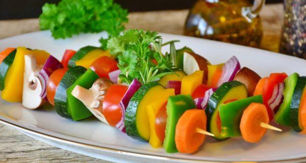 warzywa wegańskie szaszłyki