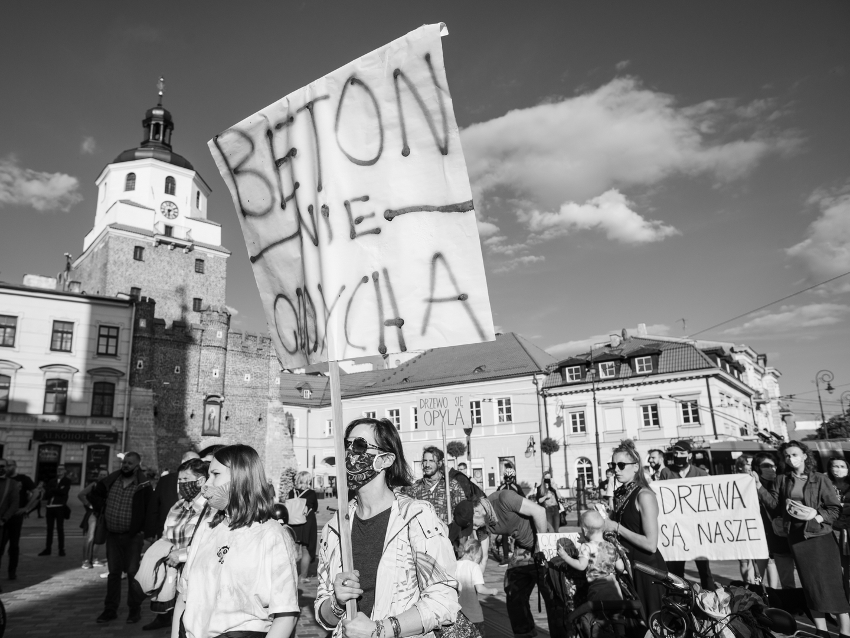 Protest mieszkańców i mieszkanek Lublina Fot. Jakub Szafrański