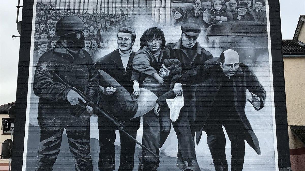 Mural upamiętniający zabitych podczas demonstracji republikańskiej w Belfaście Fot. Payton Walton