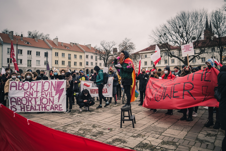 Demonstracja przeciwko zakazowi aborcji w Łodzi Fot. Aleksandra Wysokińska
