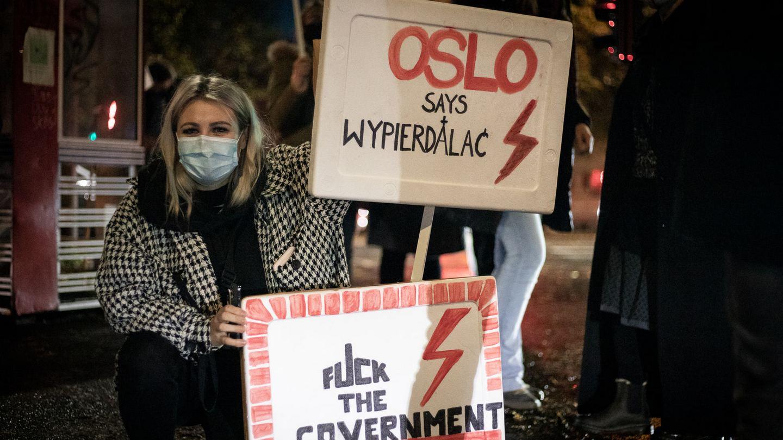 Demonstracja Strajku Kobiet w Oslo. Fot. Kij/facebook.com