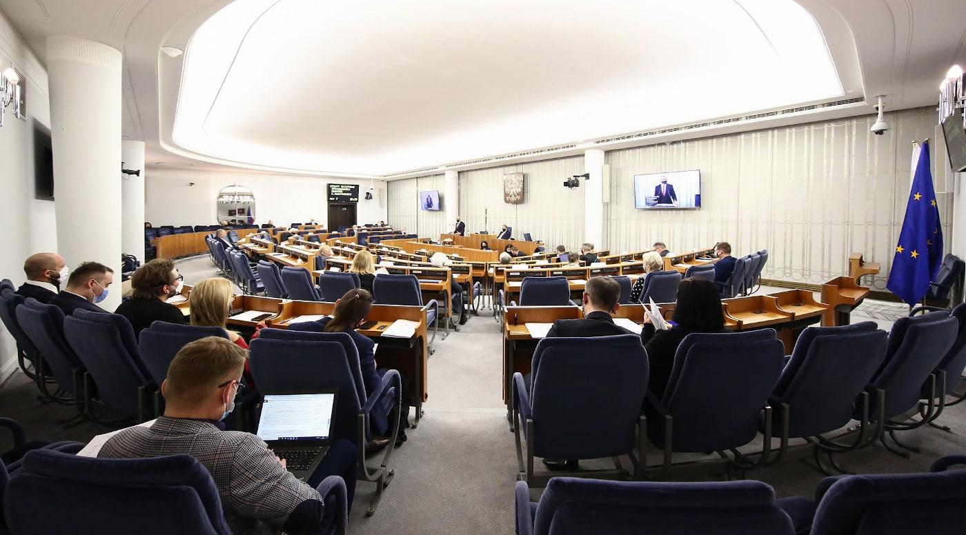 Posiedzenie Senatu. Fot. M. Józefaciuk, Kancelaria Senatu