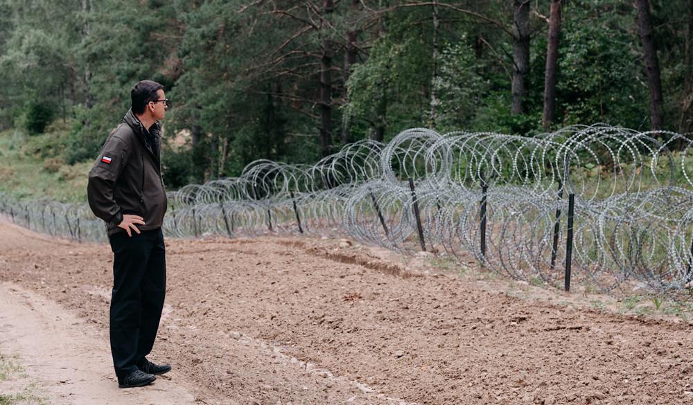 Wizyta premiera Mateusza Morawieckiego na pasie granicznym